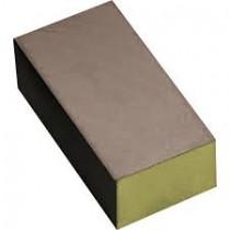 Carbon schuur-blokje geel, korrel 1500.