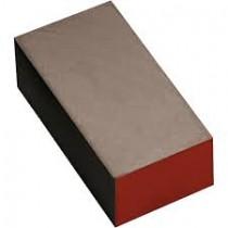 Carbon schuur-blokje rood, korrel 3000.