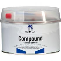 Glasvezel-Plamuur incl. verharder  Compound   1,8 Kg